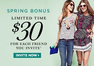 Spring Bonus $30