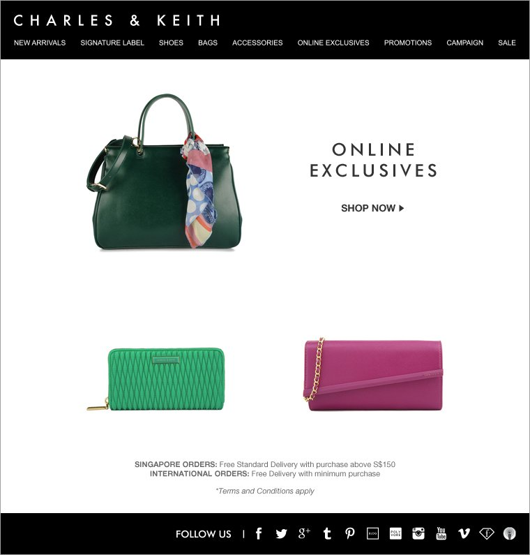 Charles & Keith March Online Exclusives