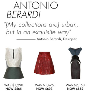ANTONIO BERARDI. SHOP NOW