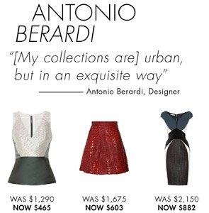 ANTONIO BERARDI. SHOP NOW