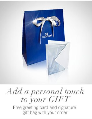 Free greeting card and signature gift bag with your order