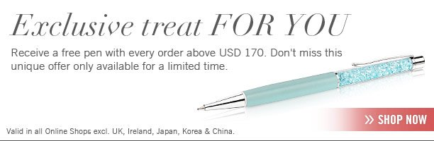 Receive a free pen for every order above USD 170