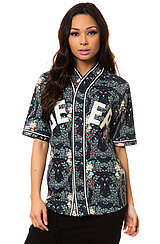 The Stealing Home Jersey in Navy Cherry Blossom