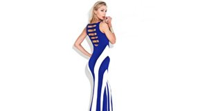 Stripes and Patterns Maxi Dresses by La Class
