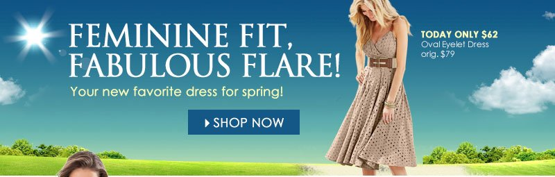 Feminine Fit, Fabulous Flare! Your NEW Favorite Dress for Spring!