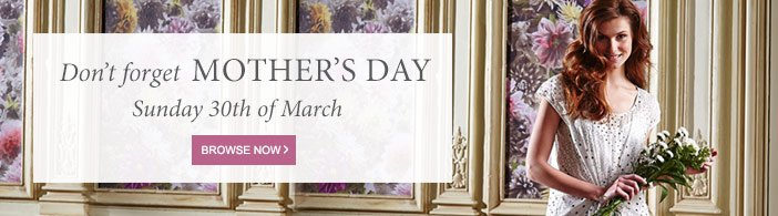 Don't forget Mother's Day Sunday 30th March