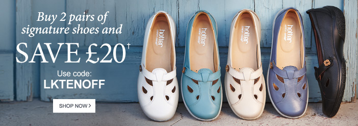 Buy 2 pairs of Signature Shoes and Save £20†
