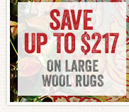 Save up to $217 on All Wool Rugs