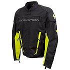 Scorpion Men's 'Battalion' Black/Neon Yellow Textile Jacket