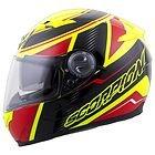 Scorpion EXO-500 'Corsica' Red/Neon Yellow Full Face Helmet