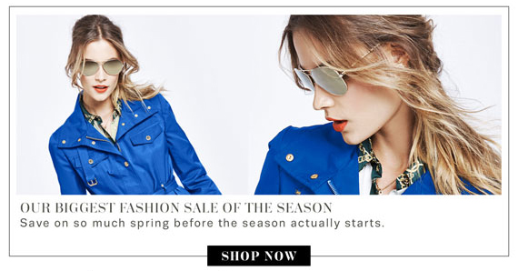 Our Biggest Fashion Sale Of The Season. Shop Now