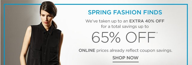 Up to 60% off Spring Fashion Finds