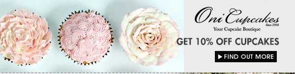 Get 10% off Oni Cupcakes