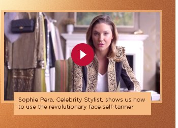 Sophie Pera, Celebrity Stylist, shows us how to use the revolutionary face self-tanner