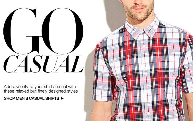 Shop Casual Button-Up Shirts - Men