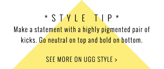 MAKE A STATEMENT WITH A HIGHTLY PIGMENTED PAIR OF KICKS