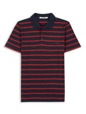 Navy Breton Stripe Polo