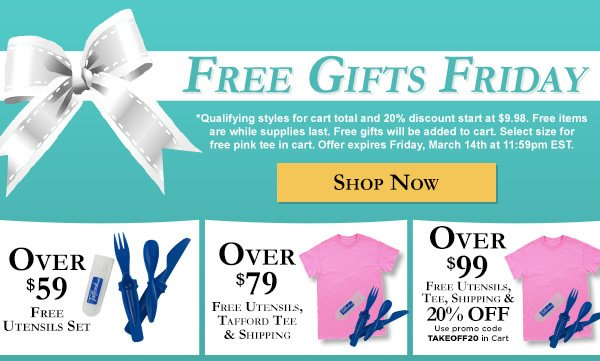 Free Gifts Friday - Shop Now