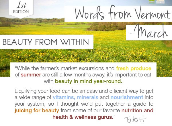 Words from Vermont: Beauty from Within