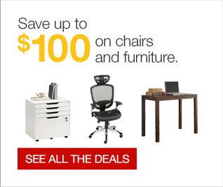 Save up to $100 on chairs and furniture. See all the deals.