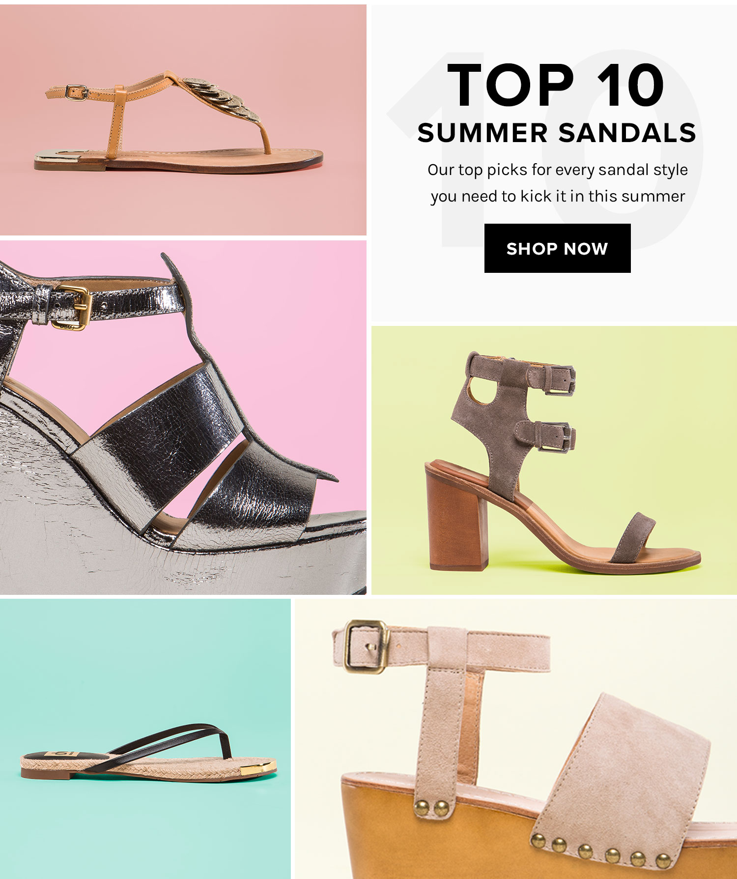 Top 10 Summer Sandals