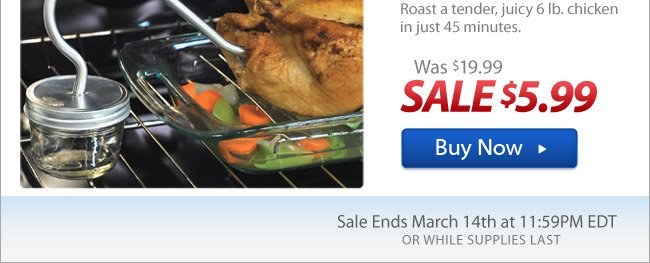 Flash Sale: As Seen On TV Turbo Roaster™ Now 70% Off!