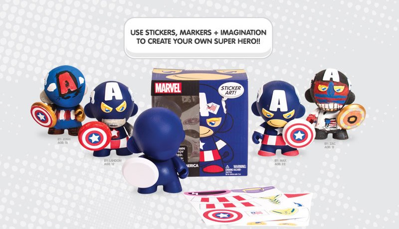 Use stickers, markers + imagination to create your own super hero!!