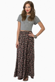 May Flowers Maxi Skirt $47