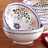 Delicately Painted Flor Bowl