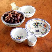 Delightfully Painted Olive Dish