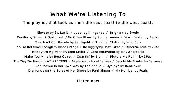 What We're Listening to - Listen now