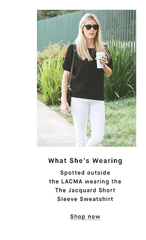 What She's Wearing - Shop now