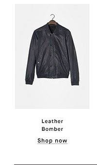 Leather Bomber - Shop now