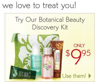 TRY OUR BOTANICAL BEAUTY DISCOVERY KIT