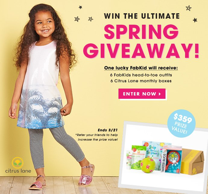 Enter Today To Win From FabKids & Citrus Lane!