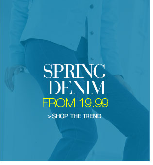 spring denim from 19.99 - shop the trend