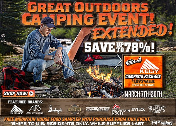 Sportsman's Guide's Great Outdoors Camping Event & Giveaway!