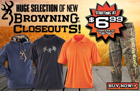 Sportsman's Guide's NEW Browning® Closeouts!