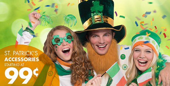 St. Patrick's Accessories Starting at 99¢