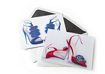 Painterly Shoes Couture Assorted Boxed Notes