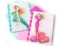Bella Pilar Fashion Dresses Note Cards