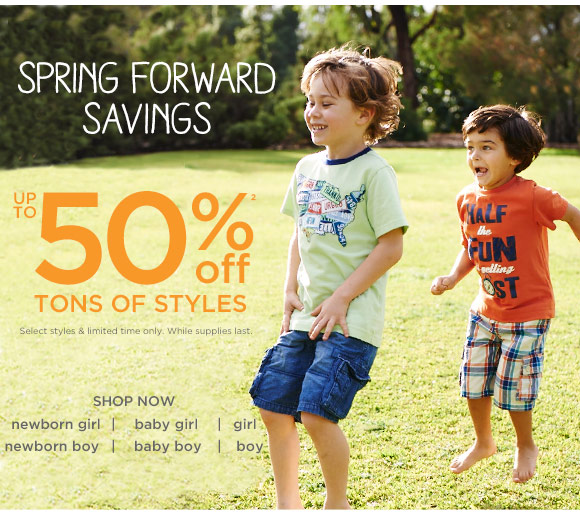 Spring Forward Savings. Get up to 50% off(2) tons of styles. Shop Now. Select styles & limited time only. While supplies last.