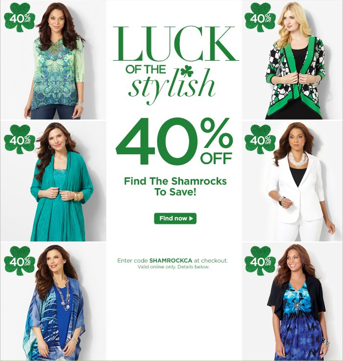 Find the Shamrocks to Save 40%