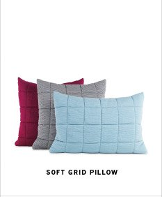 SOFT GRID PILLOW