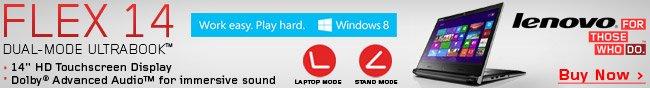 Lenovo  - Flex 14 Dual-mode Ultrabook.