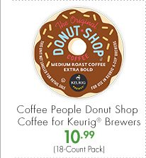 Coffee People Donut Shop Coffee for Keurig® Brewers 10.99 (18-Count Pack)