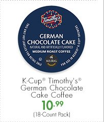 K-Cup® Timothy's® German Chocolate Cake Coffee 10.99 (18-Count Pack)