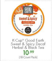 K-Cup® Good Earth Sweet & Spicy Decaf Herbal & Black Tea 10.99 (18-Count Pack)