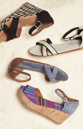 Remember your toes? Do some catching up in new sandals and wedges.