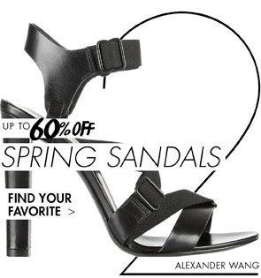 SPRING SANDALS UP TO 60% OFF